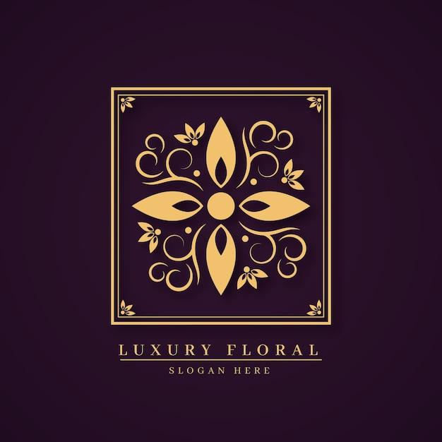 Conceito de logotipo de perfume floral de luxo Vetor grátis