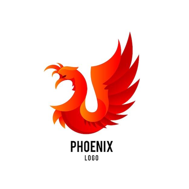 Conceito de logotipo de phoenix Vetor Premium