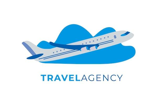 Conceito de logotipo de viagem detalhada Vetor grátis
