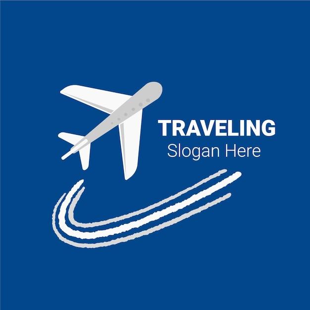 Conceito de logotipo de viagens detalhadas Vetor grátis