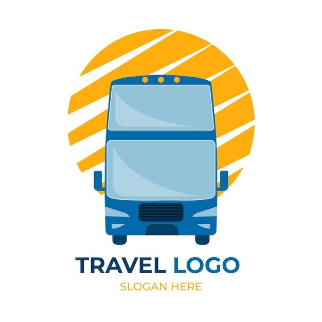 Conceito de logotipo de viagens Vetor Premium