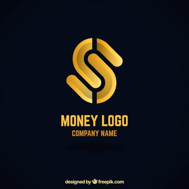 Conceito de logotipo dinheiro criativo Vetor grátis