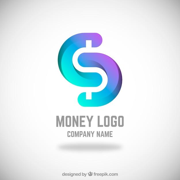 Conceito de logotipo dinheiro moderno Vetor grátis