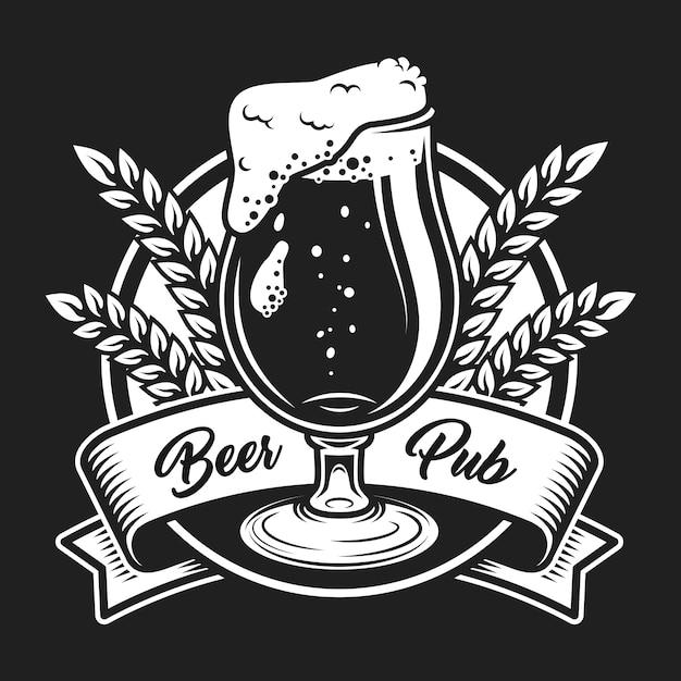 Conceito de logotipo festival de cerveja vintage Vetor grátis