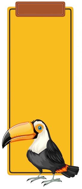 Conceito de marca de livro de tucano Vetor grátis