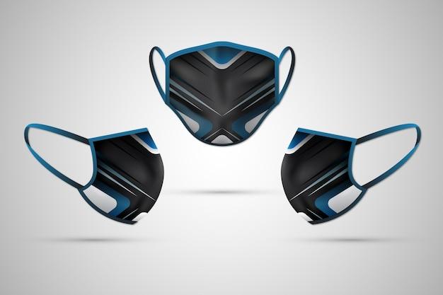 Conceito de máscara facial de tecido realista Vetor grátis