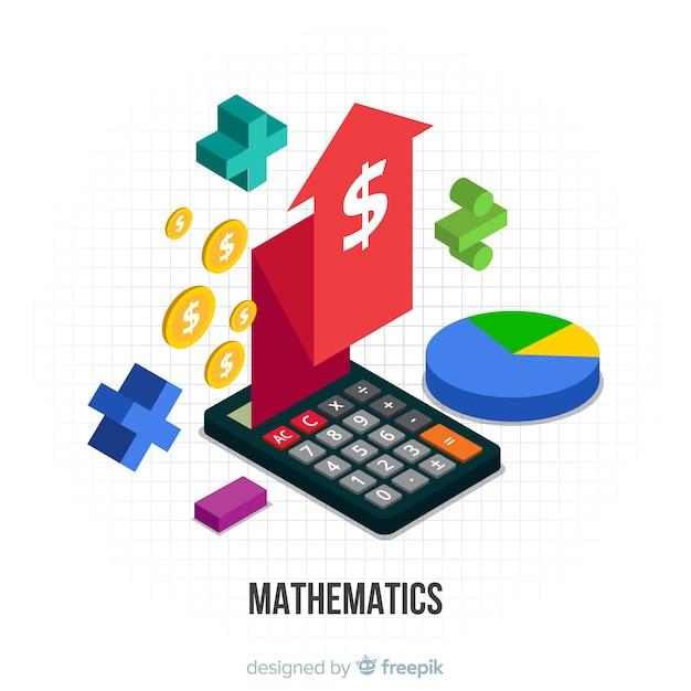 Conceito de matemática isométrica Vetor grátis