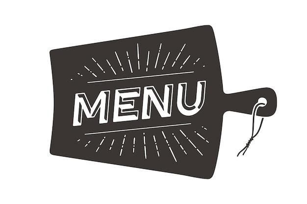 Conceito de menu de restaurante Vetor Premium