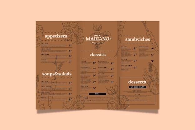 Conceito de menu em design plano Vetor grátis