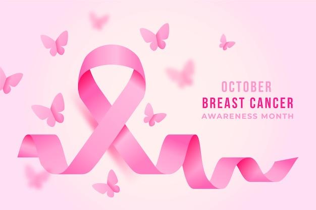 Conceito de mês de conscientização do câncer de mama Vetor grátis