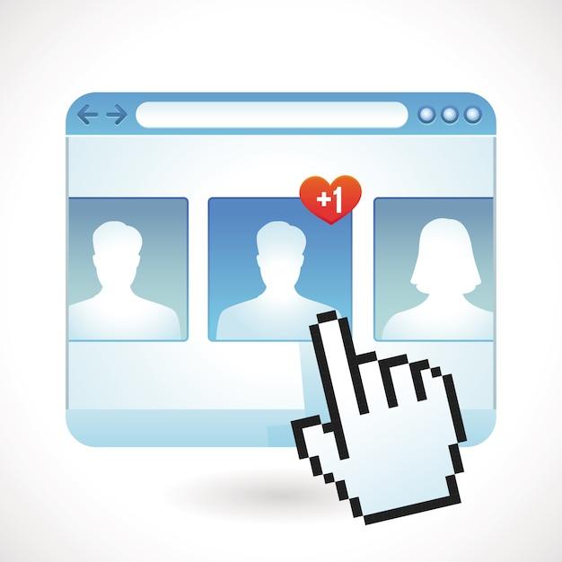 Conceito de mídia social do vetor Vetor Premium