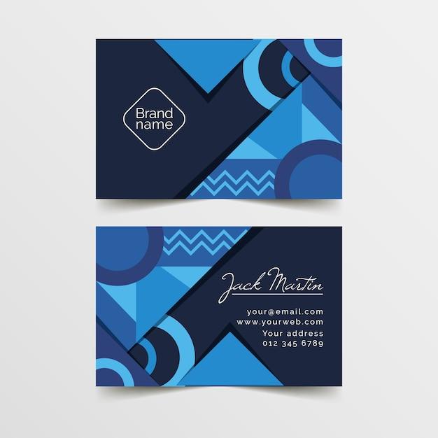 Conceito de modelo de cartão azul clássico Vetor grátis