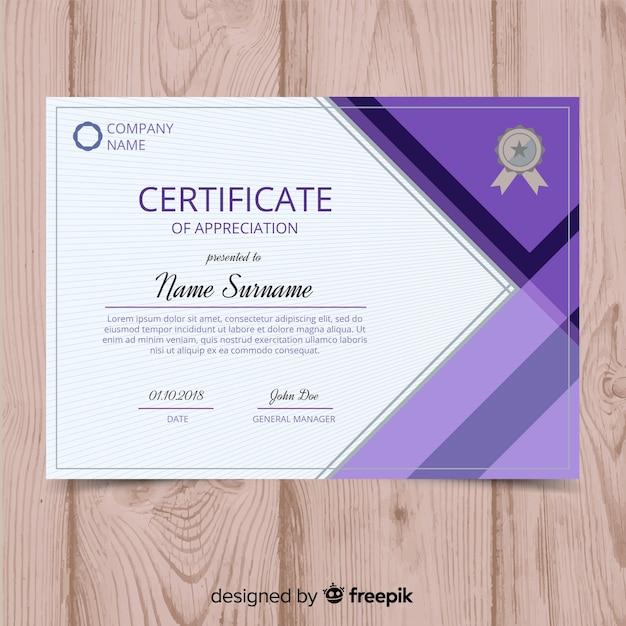 Conceito de modelo de certificado criativo Vetor grátis