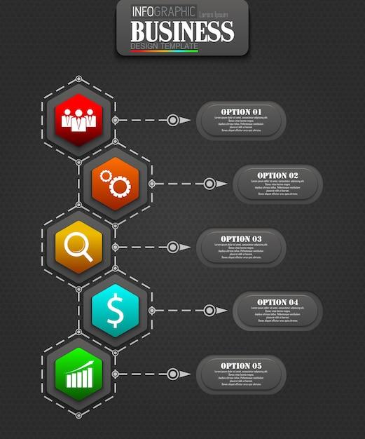 Conceito de modelo de negócio de infográficos Vetor Premium