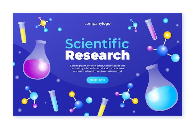 Conceito de modelo de página de destino de pesquisa científica Vetor grátis