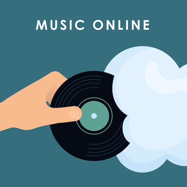 Conceito de música Vetor Premium