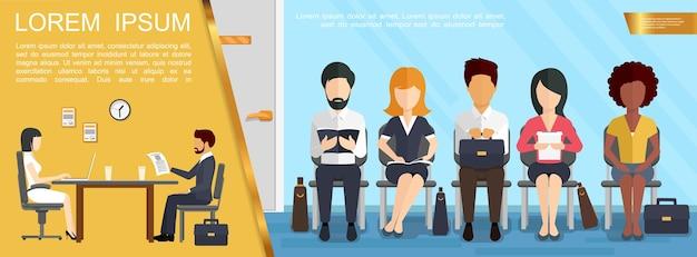 Conceito de negócio de contratação e recrutamento Vetor grátis