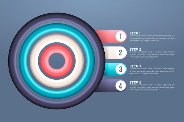 Conceito de negócio de infográfico de objetivos Vetor grátis