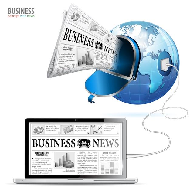 Conceito de negócio global Vetor Premium