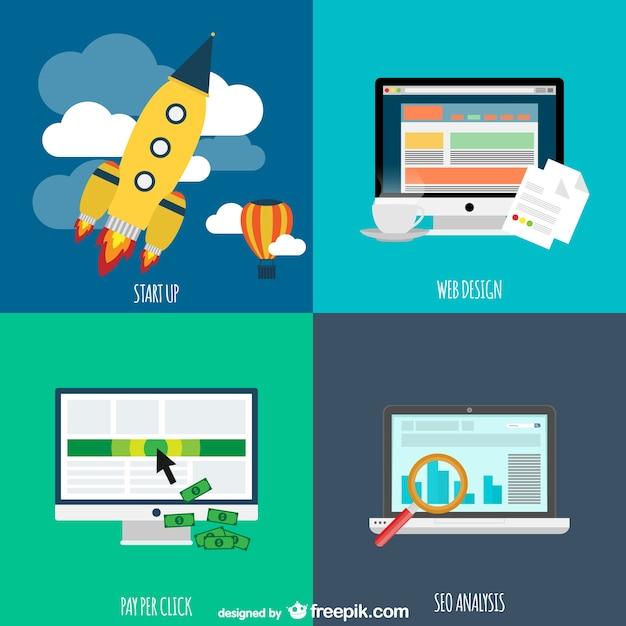Conceito de negócio internet Vetor grátis