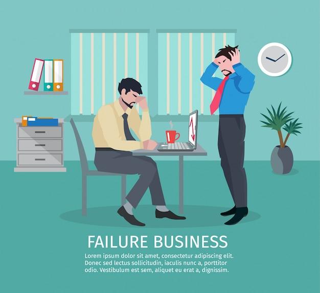 Conceito de negócios de falha Vetor grátis