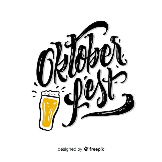 Conceito de oktoberfest com fundo de letras Vetor grátis