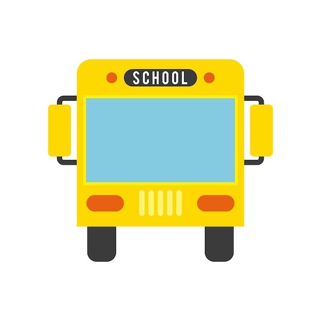 Conceito de ônibus conceito isolado Vetor Premium