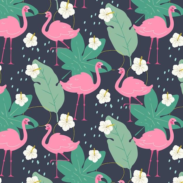 Conceito de padrão de flamingo Vetor grátis