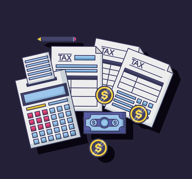 Conceito de pagamento de imposto Vetor grátis