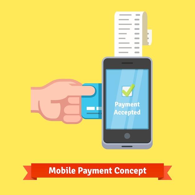 Conceito de pagamento móvel Vetor grátis
