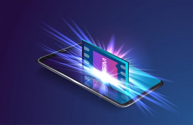 Conceito de pagamento móvel Vetor Premium