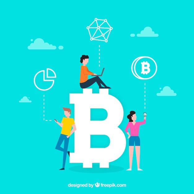 Conceito de palavra bitcoin Vetor grátis