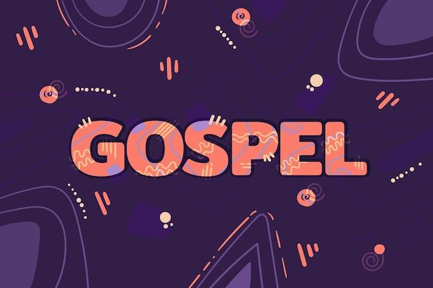 Conceito de palavra gospel Vetor grátis