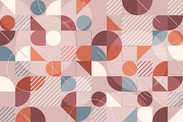 Conceito de papel de parede mural geométrico Vetor grátis