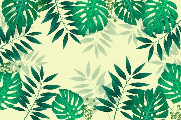 Conceito de papel de parede mural tropical Vetor grátis