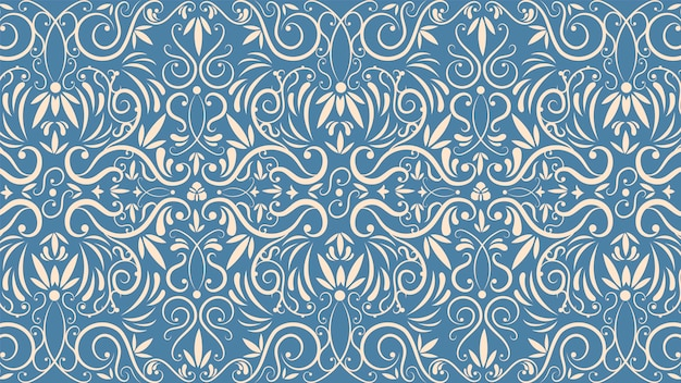 Conceito de papel de parede vintage ornamental Vetor Premium