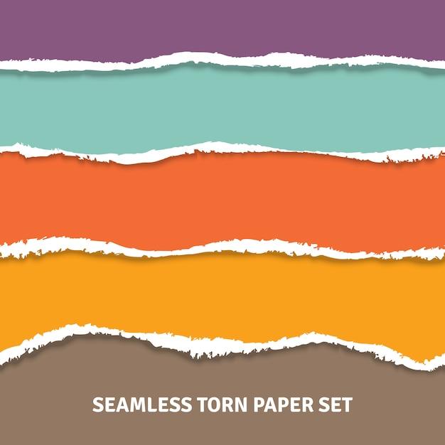 Conceito de papel rasgado sem emenda Vetor grátis