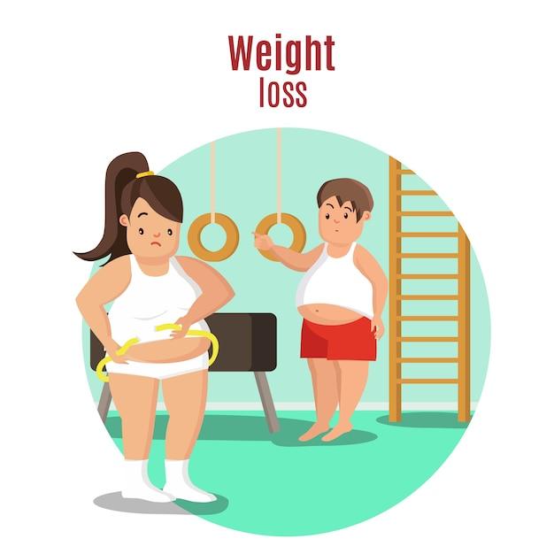 Conceito de perda de peso Vetor grátis
