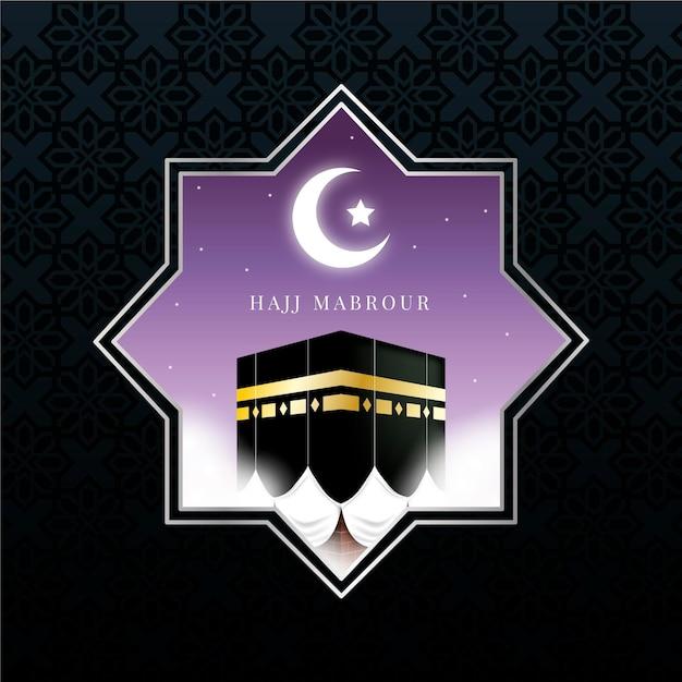 Conceito de peregrinação islâmica Vetor grátis