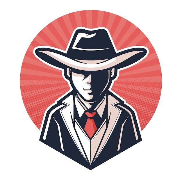 Conceito de personagem misteriosa gangster Vetor grátis