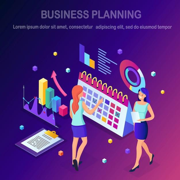 Conceito de planejamento de negócios. Vetor Premium