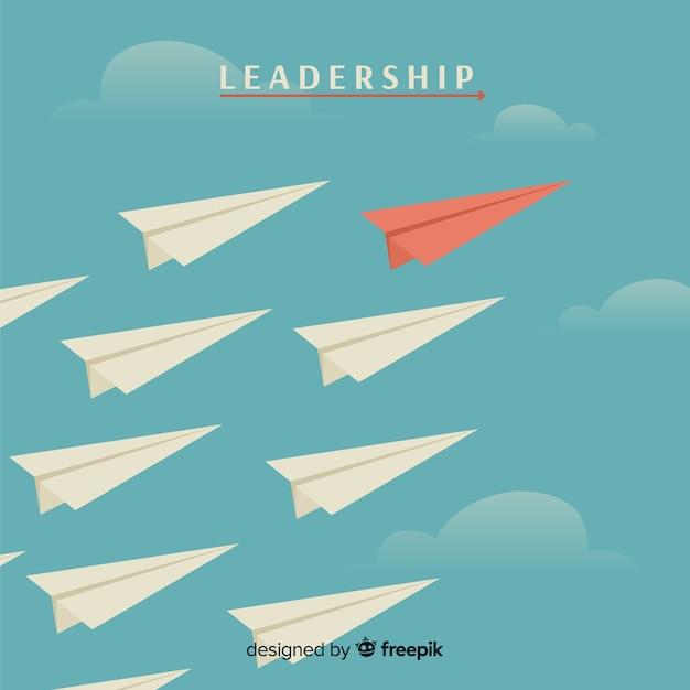 Conceito de planos de liderança e papel Vetor grátis