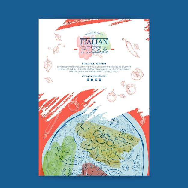 Conceito de pôster de comida italiana Vetor grátis