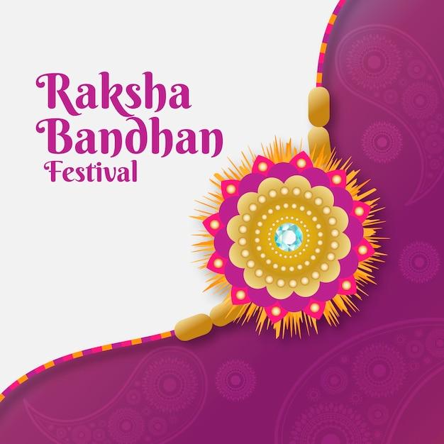 Conceito de raksha bandhan plana Vetor grátis