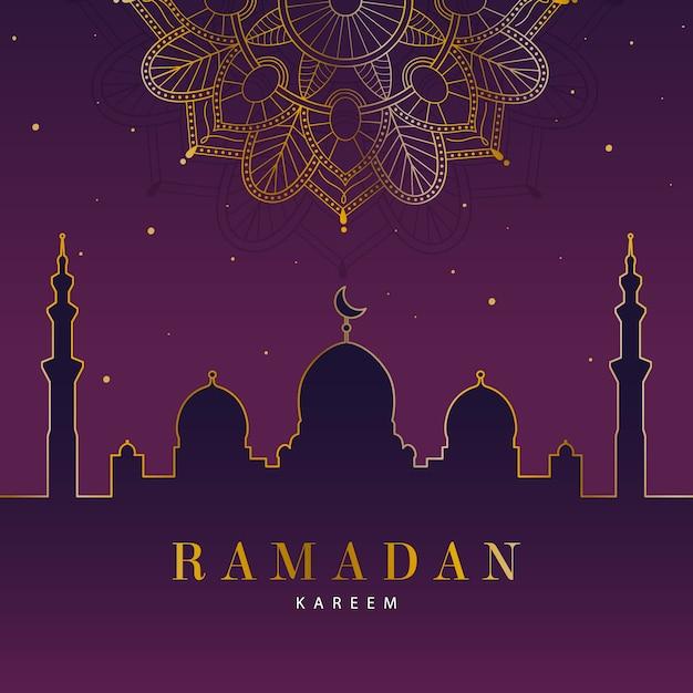 Conceito de ramadan design plano Vetor grátis