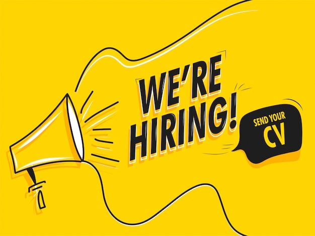 Conceito de recrutamento de emprego. Vetor Premium