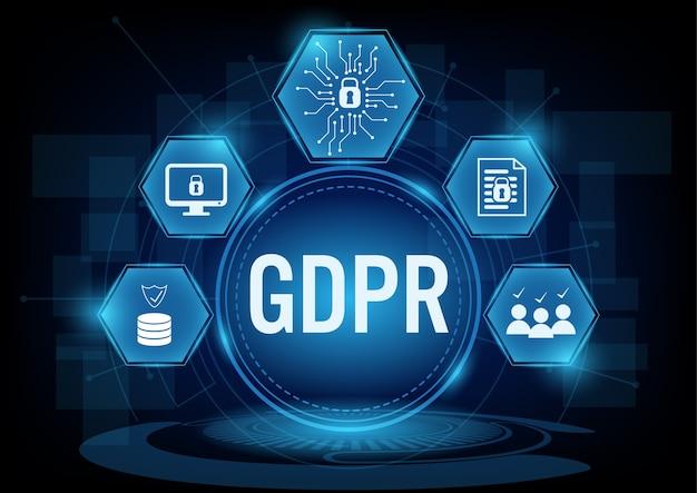 Conceito de regulação geral de proteção de dados Vetor Premium
