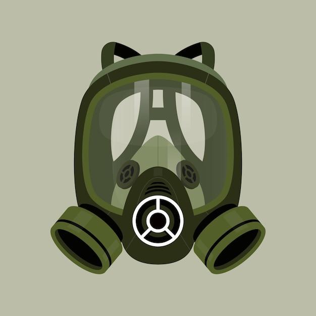 Conceito de respirador de máscara de gás Vetor Premium