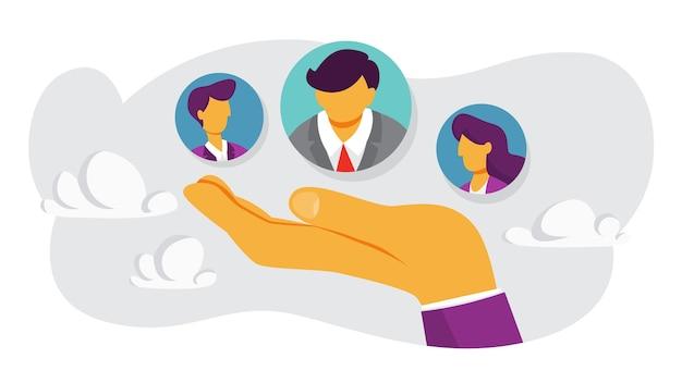 Conceito de retenção de clientes. atrair o público como estratégia de marketing. aumento do tráfego. isolado Vetor Premium