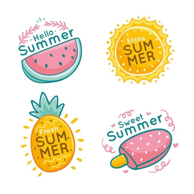 Conceito de rótulos de verão Vetor grátis